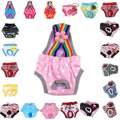 Pet Dog Doggie Puppy Diaper Pants Physiological Sanitary Short Panty Underwear