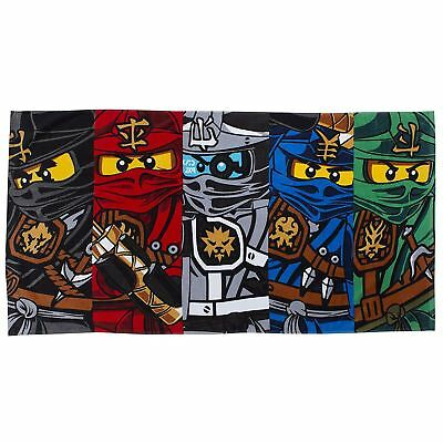 Lego Ninjago Warrior Beach Bath Towel 100% Cotton Kids Large