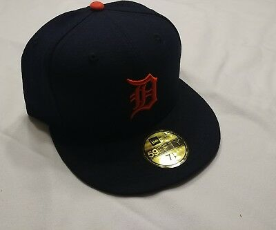 9c19bf3c01e ... New Era Detroit Tigers 2017 ROAD 59Fifty Fitted Hat (Dark Navy) MLB Cap  7 ...