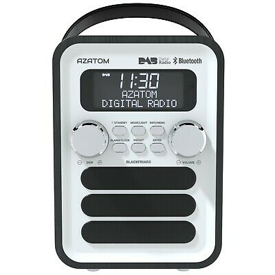 Azatom DAB FM Radio Clock Alarm Speaker with Remote Control Blackfriars Black