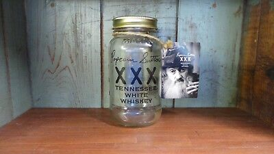 RARE Original Popcorn Sutton Moonshine Jar (Empty) with Original Hang-Tag