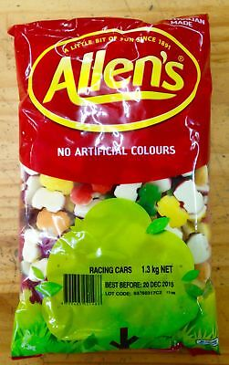 NEW Allen's Racing Cars - 1.3kg Party Supplies Occasion Birthday Christmas