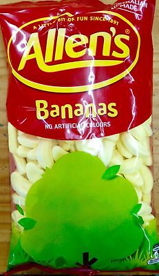 NEW Allen's Candy Bananas - 1kg Party Supplies Occasion Birthday Christmas
