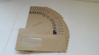 50 x Royal Mail 1st Class Prepaid DL Manilla Window Envelopes Max 100g, FREE P&P