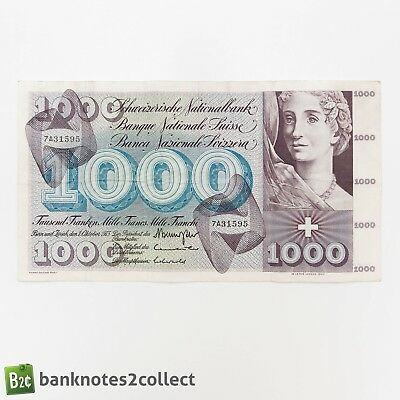 SWITZERLAND: 1 x 1000 Swiss Franc Banknote 5th Series.