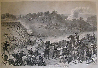Battle Of Harlem Heights Sept 16 1776 New York Harper'S Weekly 1876