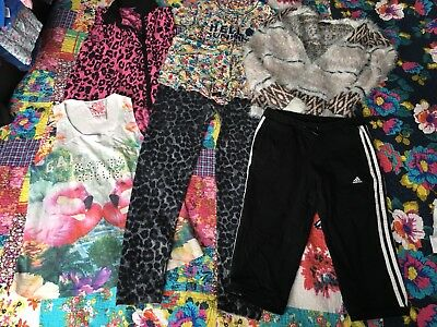 Girls Age 12-13 Years Clothes Bundle includes Adidas crop pants Bnwot
