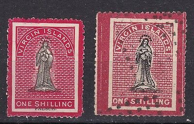 Virgin Islands 1867/8 collection of 2 x 1/- used