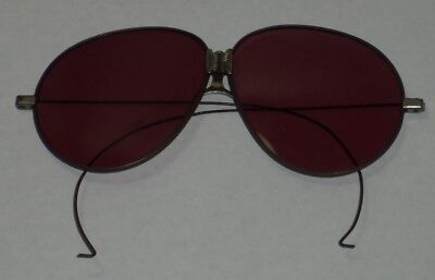 Vintage  Early Folding Sun-Glasses with Wire Rims Eye-Glasses