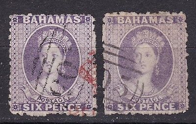 Bahamas 1883-77  2 x 6d violet  used