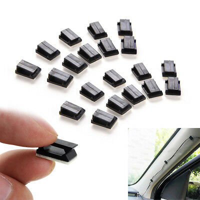 40PCS Car Drop Adhesive Clamp Wire Cord Clip Cable Holder Tie Clips Organizer