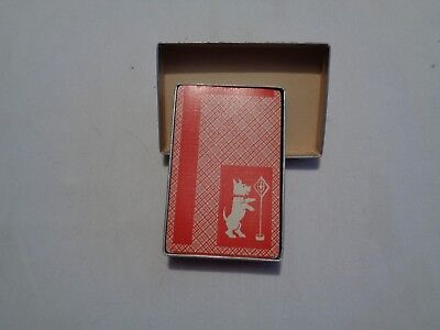 vintage complete deck playing cards scottie dog red/white original box used