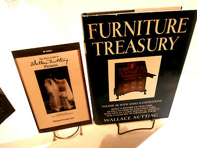 2 Wallace Nutting Books Furniture Treasury Vol 3-1979Price Guide Pictures-1991