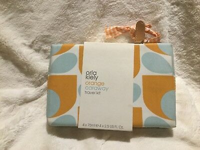 Orla Kiely Orange Caraway Travel Kit
