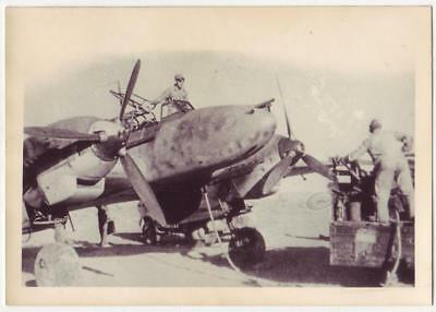 German Wwii Small Size Photo: Messerschmitt Bf-110 Aircraft, Agfa Brovira Paper