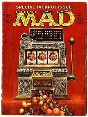 Mad #64 VG- 3.5 ow/white pages  Kelly Freas cover  EC  1961  No Reserve