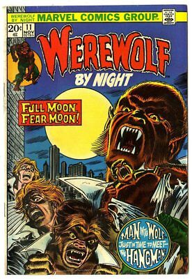 Werewolf by Night #11 VF- 7.5 off-white pages  Marvel  1973  No Reserve