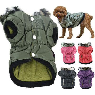 Pet Outfit Windproof Winter Warm Coat For Dog Cat New Fashion Hood Wear Clothing