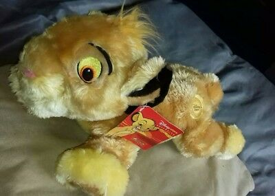 """BNWT Authentic Disney Store original Lion King Simba Soft Toy 17"""" TAIL TO NOSE"""