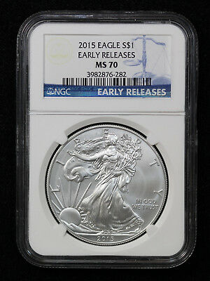 2015 American Silver Eagle NGC MS 70 Early Releases