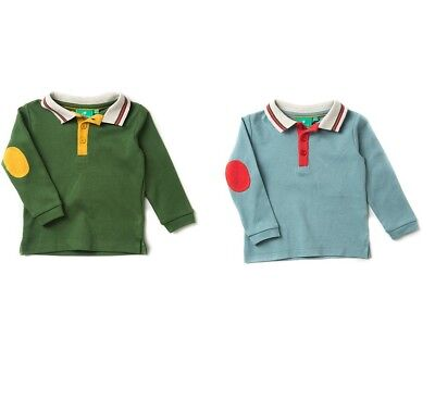 Little Green Radicals Polo Shirt T woodland Green  or still water  6 - 9 months