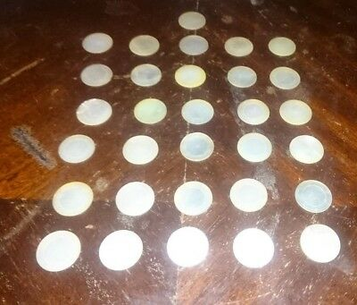 31 x Antique Chinese Canton export mother of pearl gaming counters