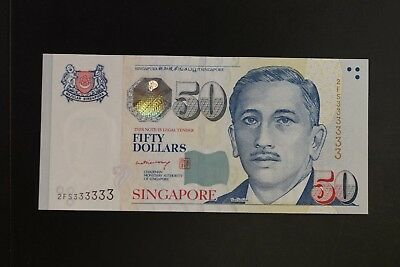 Singapore P-49a 2008ND $50 note in gem-UNC solid #2FS333333 (V122)