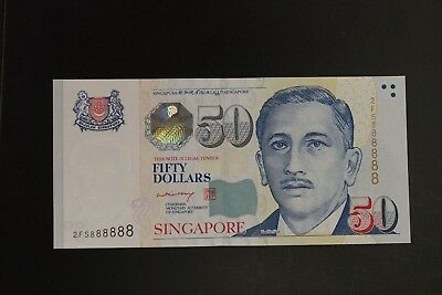 Singapore P-49a 2008ND $50 note in gem-UNC solid #2FS888888 (K173)