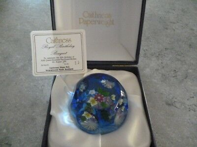 Caithness Paperweight Limited Edition - Royal Birthday Bouquet (Queen Mother)