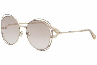 9ad42aaf6d96 Chloe Women s CE2138 CE 2138 825 Gold Pink Fashion Round Sunglasses 56mm