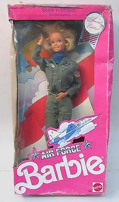 AIR FORCE BARBIE doll.  Stars & Stripes Limited Edition  mint in poor box