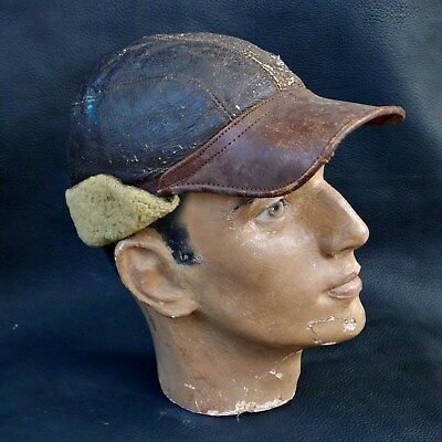 Rare Early WWII Named B2 Winter Flying Cap Flight US Army Air Corps USAAF Helmet
