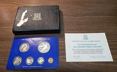 British Virgin Islands 1975 6 Piece Proof Set W/ Box And C.O.A.