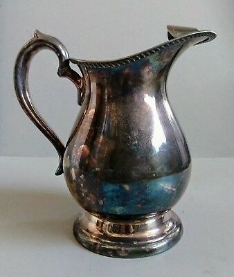 Vintage/Antique Rare Marshall Fields & Co. Water Pitcher EP Bristol Silverplate