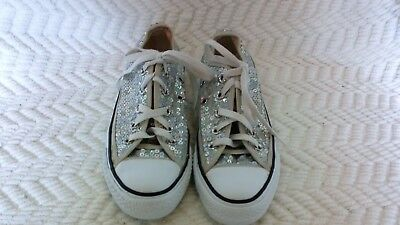 Converse ALL STAR Chuck Taylor SEQUIN Sneakers silver low top Women's Size 5.5
