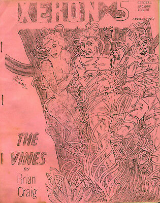 Fanzine - XERON #5 & #7 - 1967 - Graham Charnock/Brian Stableford/Mike Ashley ++
