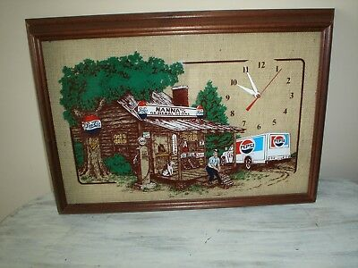 Vintage Hanover Pepsi  Nanna's General Store Advertising Clock 1989 Works EUC