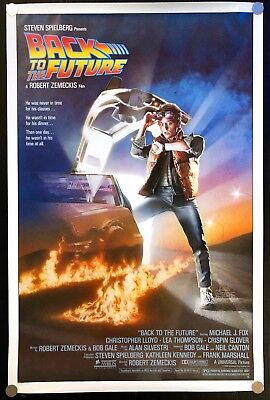 Back to the Future 1985 Original Movie Poster One Sheet Rolled Never Folded