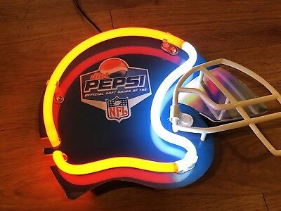Bmore Sports Pepsi the official soft drink of the NFL neon helmet sign
