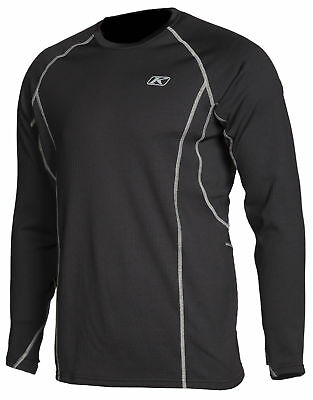 Klim Mens Black Aggressor 3.0 Warming Long Sleeve Snowmobile Base Layer Shirt