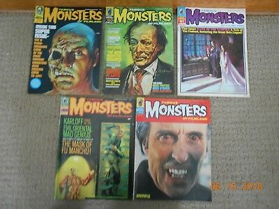 Lot/ 5 Famous Monsters Of Filmland Magazine 1969 - 1971* Ex. Condition*must See*