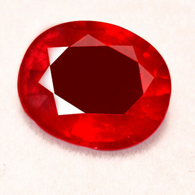 5.85CT Natural Mozambique Pigeon Blood Red Ruby Faceted Cut UQHB168