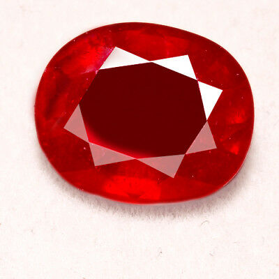 6.45CT Natural Mozambique Pigeon Blood Red Ruby Faceted Cut UQHB169