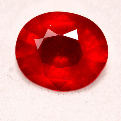 5.7CT Natural Mozambique Pigeon Blood Red Ruby Faceted Cut UQHB167