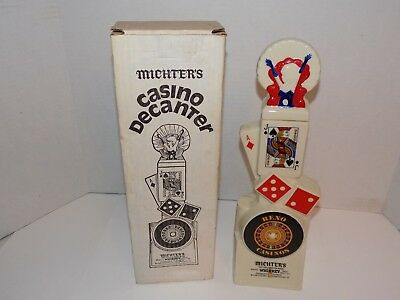 Vintage 1980 Michter's Casino Decanter-Reno w/ Box Lot-Empty #1