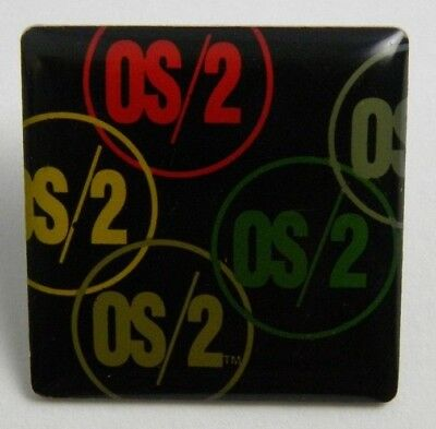 "Vintage IBM OS/2 Computer Pin / Brooch 1"" Tall 1"" Wide"