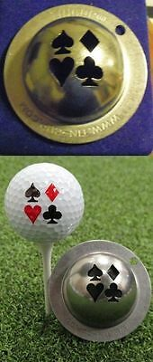 1 only TIN CUP GOLF BALL MARKER - VEGAS NIGHTS - ACES & Yours For life