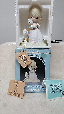"""1985 Precious Moments """"THE LORD IS MY SHEPHERD"""" # PM-851 """"SIGNED X2""""  MINT !!!"""