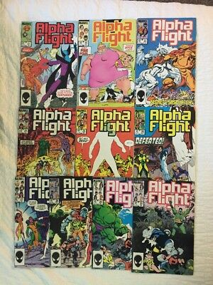 Alpha Flight #21-30(Marvel 1985) John Byrne; Hulk; Omega Flight