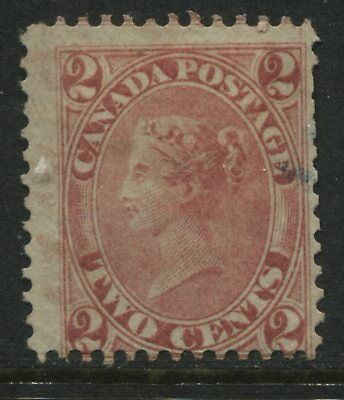 Canada 1859 Cents Issue 1864 2 cents rose lightly used